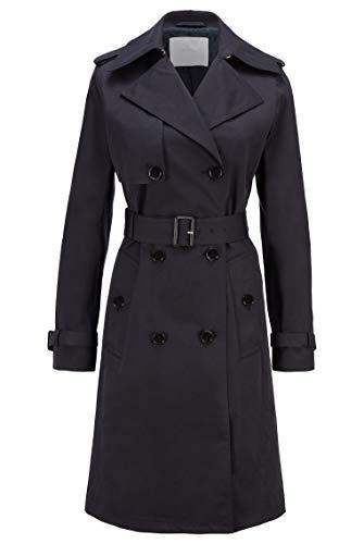 BOSS Damen Conry Trenchcoat aus wasserabweisendem Twill mit Gürtel
