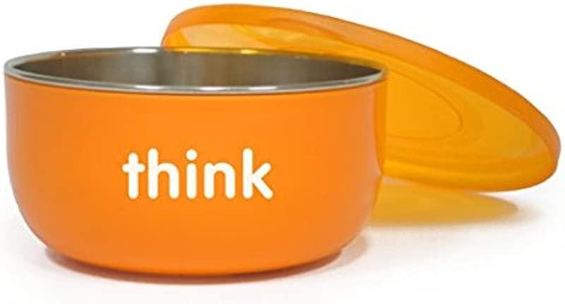 BPA Free Cereal Bowl Orange 2 Pack
