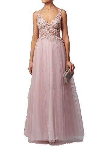 Mascara Spring Pink MC129227 Ballkleid aus weicher Spitze und Netz, Tüll, Ballkleid Gr. 38, Spring Pink