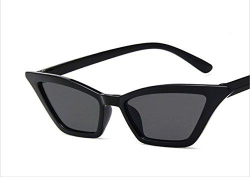 YNLRY 2019 Neue europäische und amerikanische Trend Sonnenbrille Damen Retro kleine Box Sonnenbrille (Farbe : E)
