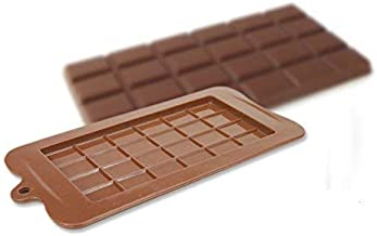 MACKLON Silicone Bar Chocolate Mould Break Apart Choc Block Mould Pack of 2 (Multi Color)
