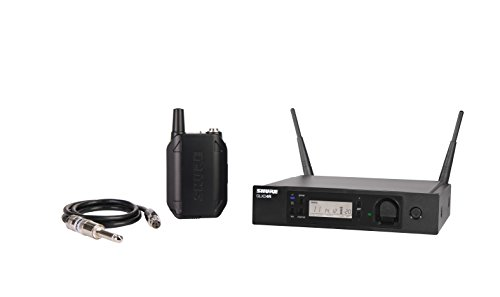 "Shure GLXD14R-Z2 Rechargeable Wireless System with WA302 2.5' TA4F to 1/4"" Guitar Cable, Half Rack"