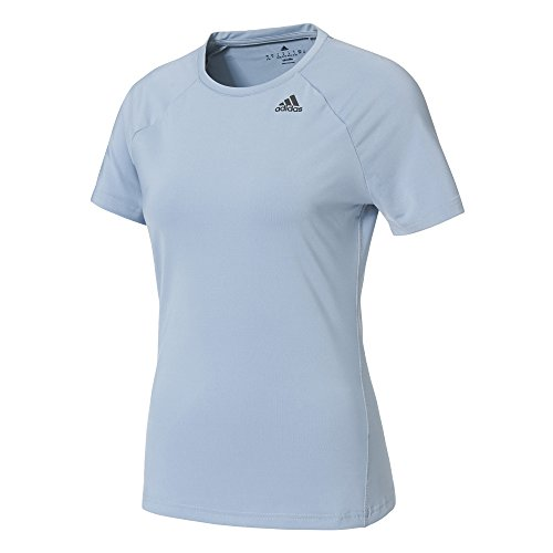 adidas D2M Tee Solid T-Shirt, Damen M Blau (azutac)