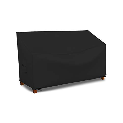 Patio Bench Cover - Waterproof, Air Vents, 100% UV-Resistant, 18 Oz 1000 D PVC Coated, Outdoor Furniture Bench Covers with Air Pockets & Drawstring for Snug fit (50\