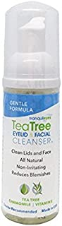 Gentle Formula Tea Tree Eyelid and Facial Cleanser (50 mililiters) Helps Reduce Dry Eye and Blepharitis Symptoms Caused by Demodex