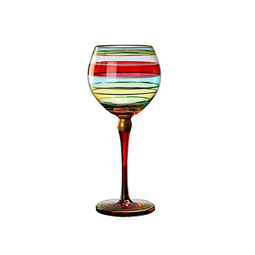 Cristal De Vino De Cristal Copa De Copa De Vidrio Estilo Europeo Vino Pintado a Mano Vino-moderno Vino Largo Vino De Vino Con Tallo, Adecuado Para Bodas, Navidad A18