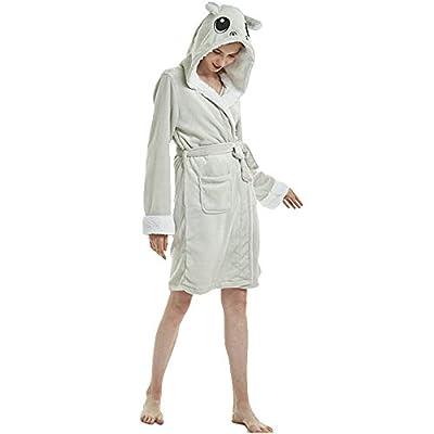 UsHigh Adult Robe Novelty Hooded Unicorn Bathrobe Soft Unisex Cosplay Nightgown
