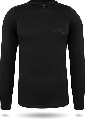 normani Herren Merino Unterhemd Premium Oberteil Rundhalsausschnitt Funktionsoberteil 100% Merinowolle Thermounterwäsche Baselayer Skipullover Größe XL/54