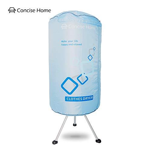 Concise Home Tragbarer elektrischer Wäschetrockner 1000W große Kapazität 10kg doppelte Aluminiumlegierung energiesparende nasse Innenkleidung warme Luft trocknende Garderobe