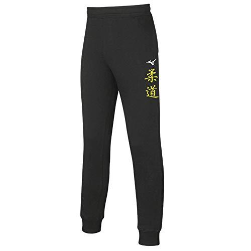 Mizuno Pantalone Felpato Uomo Team Sweat Arti Marziali Nero (L, Judo)