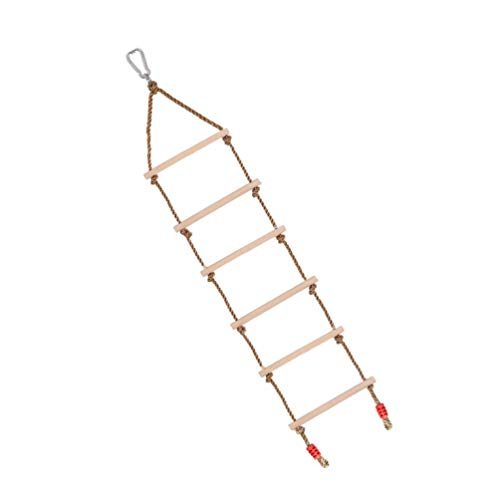 BESPORTBLE Escalera de Escalada para Niños Columpio para Árboles Escalera de Cuerda de Escalada para Niños Patio Trasero Patio Interior Juego de Escalada Columpio