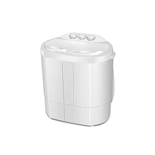 RMXMY Waschmaschine, Klein Double Barrel Zylinder Baby Kind Haus Halbautomatische Waschen und Trocknen Double Motor Energie Mute 2.6kg Waschen + Trocknen 2kg