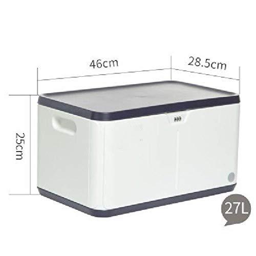 KJX Caja de Almacenamiento con Cerradura, Caja de Almacenamiento apilable, Organizador casero de plástico Duradero con Tapa y Cerradura de combinación de Seguridad