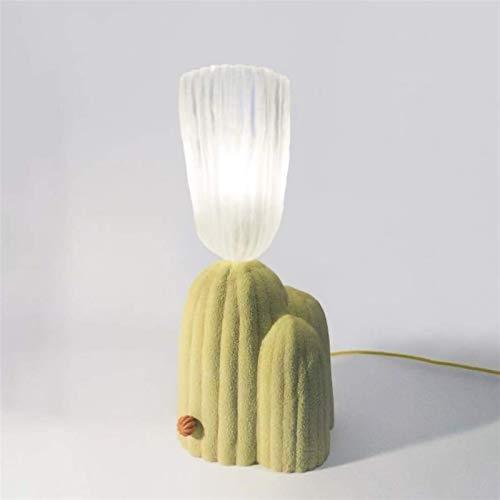 SKYHY224 Lámpara de Escritorio Lámpara de Mesa, lámpara de Dormitorio Simple, lámpara de Noche de Cactus, Adecuada para Sala de Estar, Estudio, Dormitorio (Color:Blanco, Tama?o:luz Blanca) (Color:luz