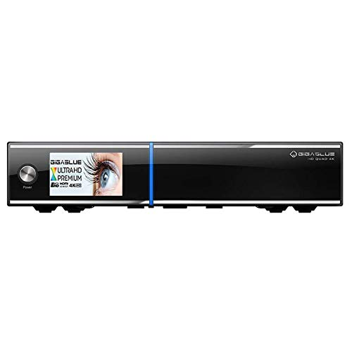 Gigablue UHD Quad 4K 2xDVB-S2 FBC Ultra HD E2 Linux HEVC H.265 Receiver 4TB HDD