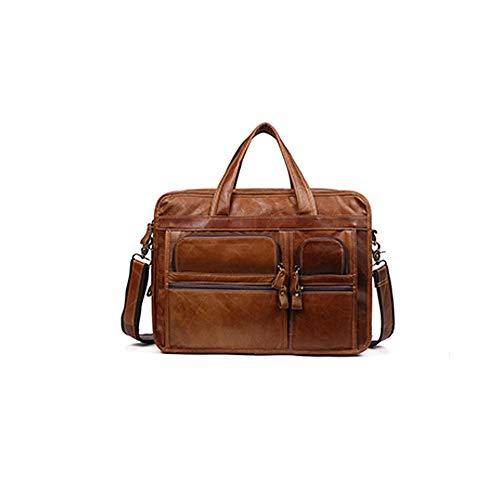 Herenmode schouder diagonaal pakket, woordelijke leren tassen heren aktetas mode-zakenmannen laptoptas tas tas leer voor 14 inch laptop