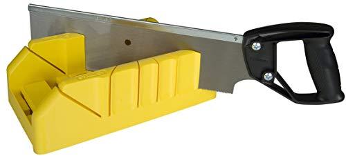 STANLEY 1-19-800 Ingletadora Material sintético con Sierra de Costilla, Negro, Amarillo