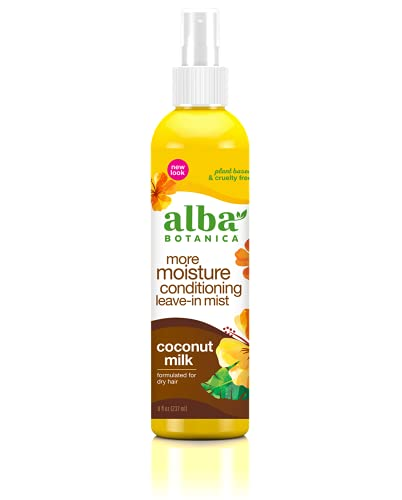 Alba Botanica Mega Moisture Conditioning Leave-In Mist, Coconut Milk, 8 Oz (Packaging May Vary)