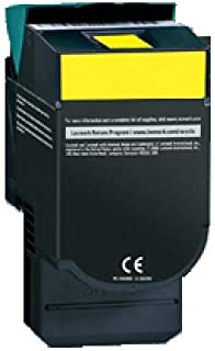 1 x Compatible Lexmark C540 C543 C544 C546 X544 X546 Yellow Toner Cartridge High Yield C540H1YG