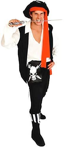 Eén maat - kostuum - vermomming - carnaval - halloween - piraat - zeerover van de zeeën - caribisch gebied - zwarte kleur - volwassenen - man - jongen