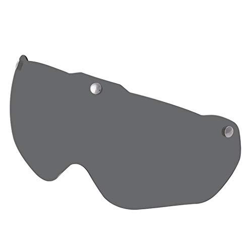 FITYLE Gafas de Repuesto con Protección UV, Visera Magnética de len para Casco de Bicicleta, Piezas de Reparación, Componentes - Gris