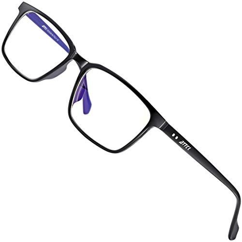 ATTCL Unisex blaulichtfilter brille zum Blockieren von UV-Kopfschmerz ohne sehstärke Computerbrille BL5577 Black