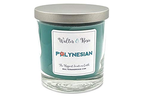 Walter & Rosie Candle Co. - Polynesian 11oz Scented Candle Inspired by Disney Scents - Smell Like Disney Resorts - The Happiest Scents on Earth - Soy Blend - Burns up to 40 Hrs