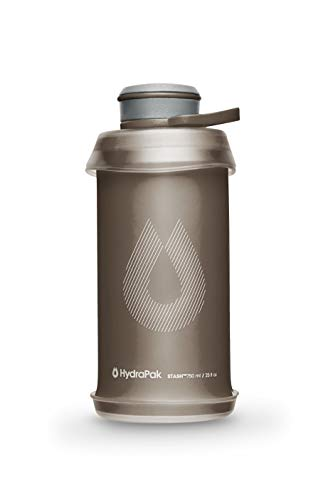 Hydrapak Stash - Collapsible BPA & PVC Free Hiking and Backpacking Water Bottle (1 Liter, Mammoth Grey)