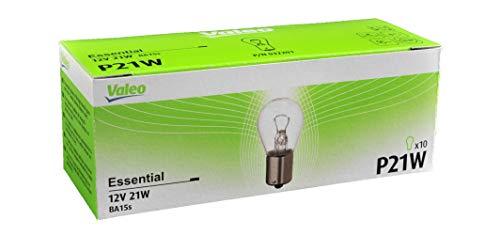 VALEO Lámpara halógena, P21W-Essential-Cartón x10, 32201