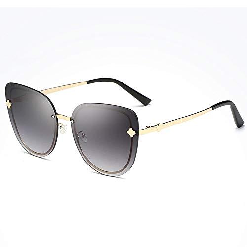 LG Snow Gafas De Sol Deportivas Al Aire Libre for Montar En La Playa. Gafas Ultravioletas Anti-UV for Conducir En La Playa Sin Bordes Gafas De Sol Poligonales UV400 (Color : Black)