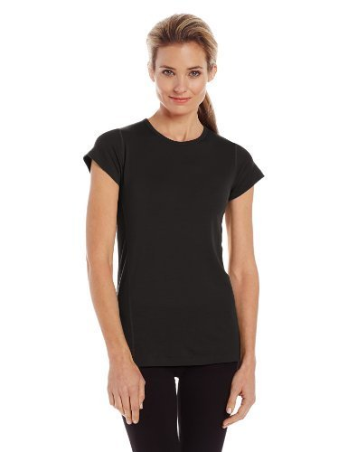 Minus33 Merino Wool Women's Appalachia Lightweight Short Sleeve Crew, Black, Large by Minus33 Merino Wool