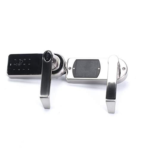 MYHO3in1ドアロック暗証番号/カード/キー解錠可能デジタルロックタッチドアロック5つのRFIDカードタグ付きドアロック電池式子錠パスワード安全ロック