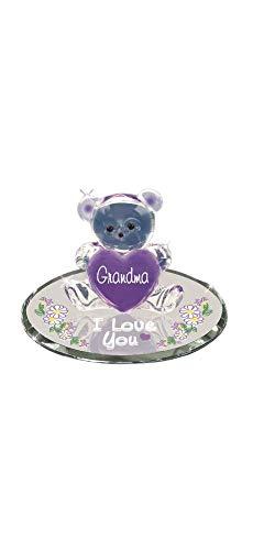Glass Baron Bear Grandma I Love You Figurine Great Gift Mother's Day Birthday