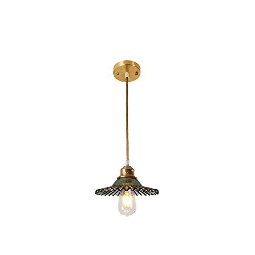 nakw88 Lámpara de Techo American Creative Personality Copper Copper Arañas Minimalista Nórdica Restaurante Bar Comedor Mesa Lámpara de Vidrio for el hogar 22 cm * 22 cm * Decoración de 18 cm