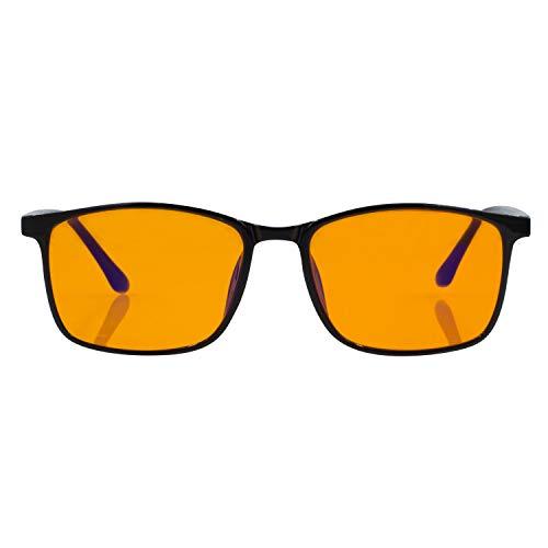 Foxmans Computerbrille mit Blaulichtblockierlinse - Die Harrison | Häufige Verwendung (schwarzer rahmen)