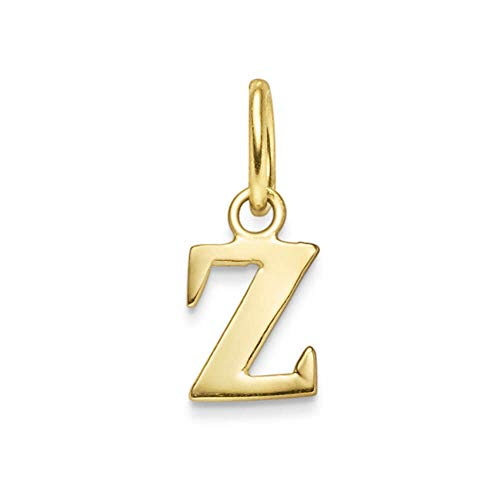 Pendentif lettre Z en or jaune 585 11 x 6 mm
