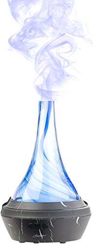 Carlo Milano Aroma Vernebler: Aroma-Diffusor aus mundgeblasenem Glas, mit Farb-LED, 120 ml (Wasserverdampfer)