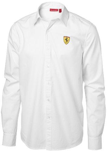 Ferrari Hemd Manschette mit Knopf,Weiß,S