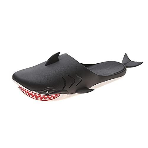 MDCGL Zapatos De Piscina Casa Hogar Zapatillas de casa para Hombres y Mujeres,Zapatos de Playa para Piscinas Interiores al Aire Libre,Playas,gimnasios Negro EU36