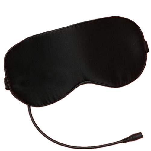 Preisvergleich Produktbild ASDGY USB-heiße Kompressen-Dampf-Augen-Maske / Cassia-Augen-Schutz / Silk Silk Gewebe-Augen-Maske, Black