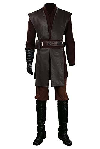 Enhopty Disfraz de Star Anakin para Halloween, Carnival, Cosplay, color marrón, XXL