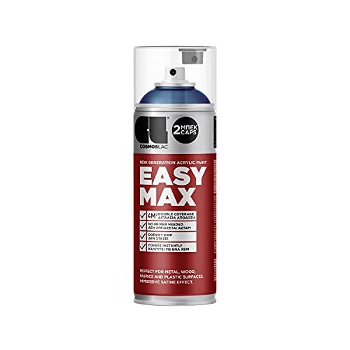 EASYMAX - Pintura en aerosol mate con muy alta opacidad, pintura en aerosol, pintura acrílica, pintura en aerosol (RAL 5005), color azul señal