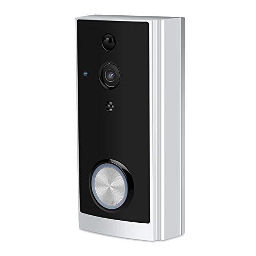Timbre Wifi, timbre de cámara de bajo consumo, Wifi que recibe voz bidireccional duradera para puertas de madera Puertas de hierro