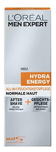 L'Oréal Men Expert Hydra Energy All-In-One Feuchtigkeitspflege, für sensible Männerhaut zieht schnell und ohne Rückstände ein ohne fetten (75 ml)