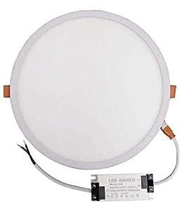 Pack 2x Panel LED redondo 20w, corte AJUSTABLE (50-200mm). Color Blanco Frío (6500K). Driver incluido. A++