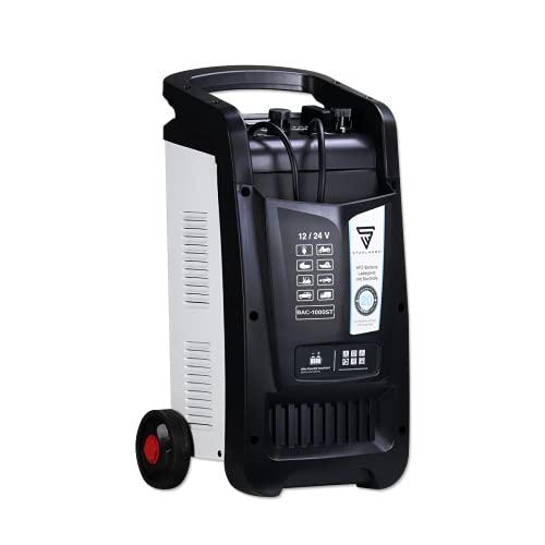 STAHLWERK Cargador de batería BAC-1000 ST, para Coche, Rendimiento hasta 1000 Ah, 90 A, Ayuda de Arranque, Booster, Temporizador, 7 años de garantía
