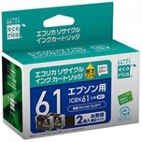 エコリカ リサイクルインクカートリッジ [エプソン:ICBK61互換] 1箱(2個)