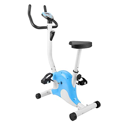 Bicicleta estática plegable, Inicio Control magnético silencioso Bicicleta de ciclismo Equipo de entrenamiento X-Bike Bicicleta deportiva de pedal Pantalla LCD Hasta 120 kg-Azul 110*63*41cm