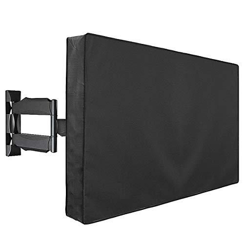 TV Abdeckung. Fernseher Abdeckung für Außen Outdoor - und Innenanwendung, Staub und Wasserfest TV Schutz - für HDTV, LCD, LED und Plasma TV Displayschutz Schwarz (65