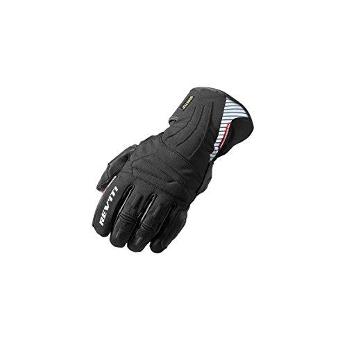Revit Guantes de moto Fusion GTX, color negro, talla L